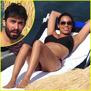 Rosario Dawson & DJ French Have Fun in the Sun