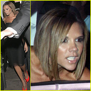 Victoria Beckham Takes a Beso Break