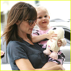 Violet Affleck Gives Giggles and Hugs