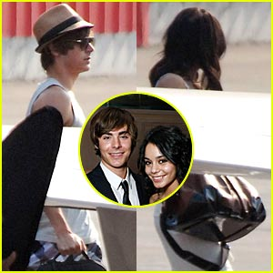 Zac Efron & Vanessa Hudgens Jet Off To Vacation