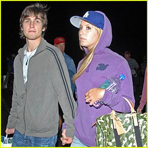 Ashley Tisdale is a Purple Dodger