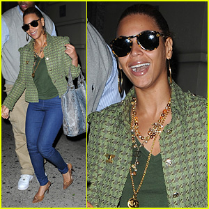 Beyonce Giggles in Green