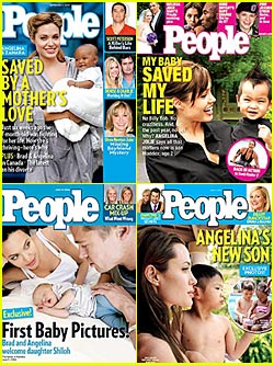 Brad & Angelina's Twins -- First Pictures On Sunday!