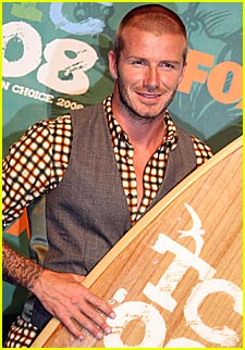 David Beckham is Surfboard Satisfied