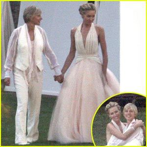 Ellen DeGeneres Wedding Pictures    FIRST LOOK