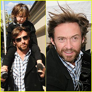 Hugh Jackman Visits Nicole Kidman's Daughter