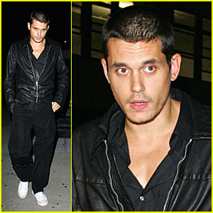 John Mayer is All Dressed in Black
