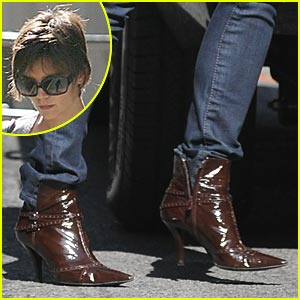 Katie Holmes is a Brown Boots Babe