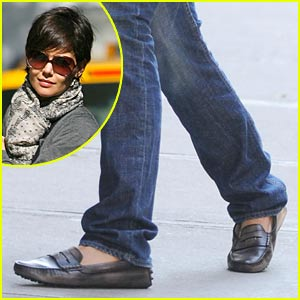 bcab03d200ab Katie Holmes is a Loafers Lady