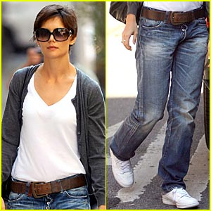 Katie Holmes Gives Rolled-Up Jeans A Rest
