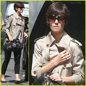 Katie Holmes is Trench Coat Cute