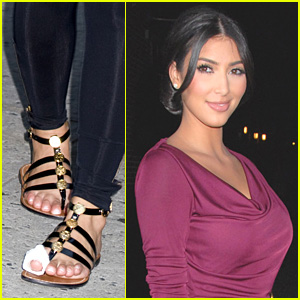 Kim Kardashian's Toe Loves Letterman