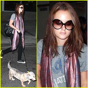 Leighton Meester's Carry-On Dog