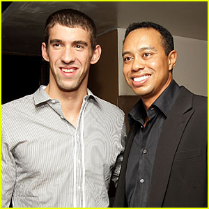 Michael Phelps Teams Up With Tiger Woods