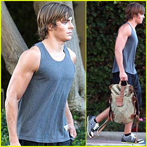 Zac Efron Moves A Muscle