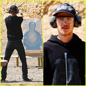 Hayden Christensen is a Shooting Range Rookie