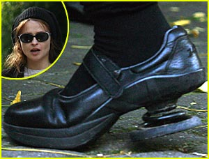 Helena Bonham Carter Wears Spring Shoes