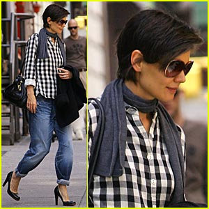 Katie Holmes is Plaid About You