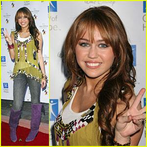 Miley Cyrus Brings Hope