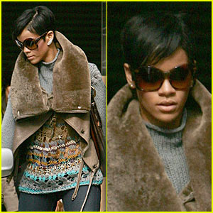 Rihanna is Fur-tastic