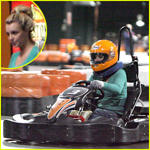 Britney Spears Goes Go-Karting