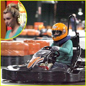 Britney Spears Goes Go-Karting