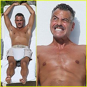 George Clooney is a Shirtless Man Who Stares at Goats
