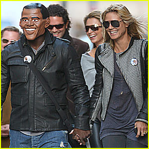Heidi Klum Holds Hands With Barack Obama