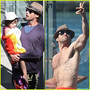 Hugh Jackman: Pool Party!