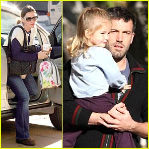 Violet Affleck Arrives Safely At School