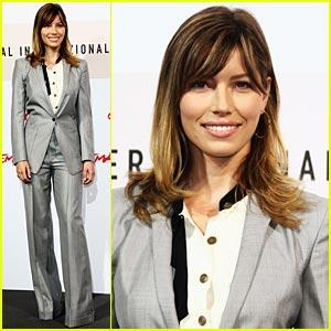 Jessica Biel is Suit Slick