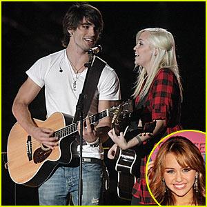 Justin Gaston Sings At Miley's Sweet Sixteen