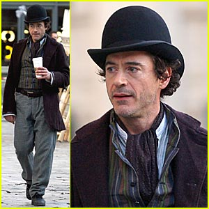 Robert Downey Jr. as Sherlock Holmes -- FIRST PICTURES