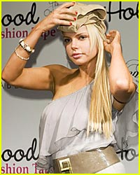 Sophie Monk Wears Panties On Her Head