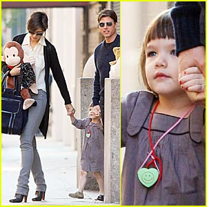 Suri Cruise Monkeys Around