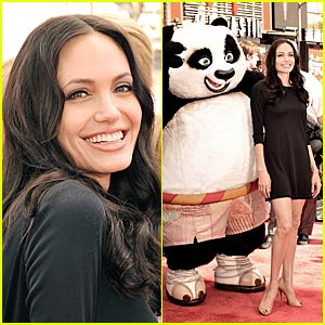 Angelina Jolie Releases 'Kung Fu Panda' DVD