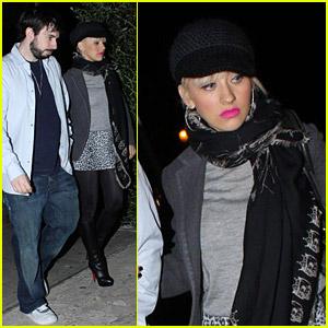Christina Aguilera Has Osteria Mozza Munchies