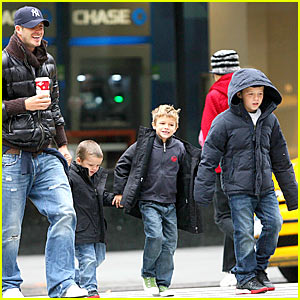 David Beckham and His Big Apple Boys
