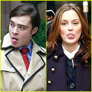 Ed Westwick & Leighton Meester: Tongues Out!