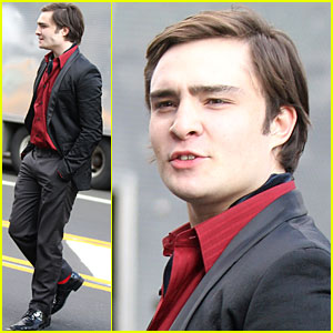 Ed Westwick is Raging Red