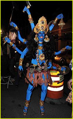 Heidi Klum is a Blue Indian Goodess