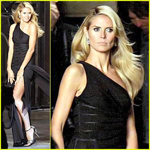 Heidi Klum Gets Gown Gorgeous