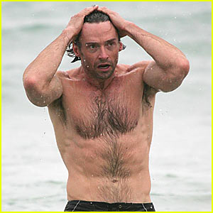 Hugh Jackman is Bondi Beach Buff