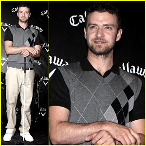 Justin Timberlake Golfs With Callaway