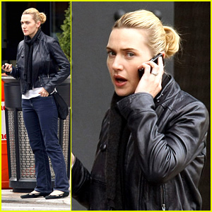 Kate Winslet's Cell Phone Walk And Talk