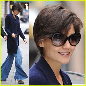 Katie Holmes' Bell-Bottoms Blow in the Wind