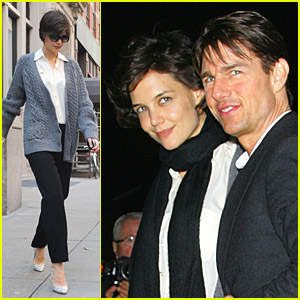 Katie Holmes Is Escorted By A Top Gun