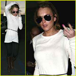 Lindsay Lohan Picks The Panda Express
