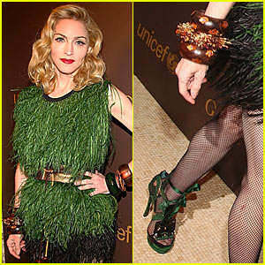 Madonna is Frilly and Feathery