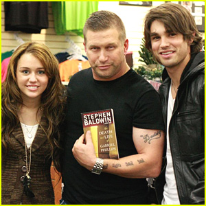 Miley Cyrus Bumps Stephen Baldwin